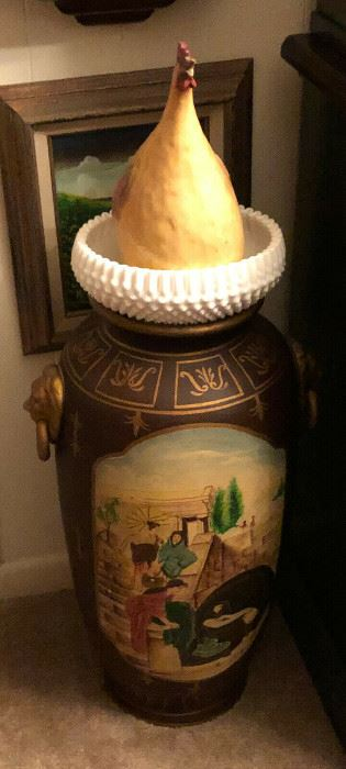 https://www.ebay.com/itm/114528608894	WL4011: Tall Hand Paint Vase with Lion Head Handles Estate Sale Pickup	-	Buy-it-Now	 $20.00
