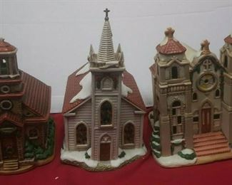 https://www.ebay.com/itm/114531788896	GN3084 LOT OF THREE USED CERAMIC LEFTON CHURCH BUILDINGS , COLONIAL VILLAGE		 Buy-IT-Now 	 $55.00  https://www.ebay.com/itm/124450462979	GN3085 LOT OF THREE USED VINTAGE CERAMIC LEFTON BUILDINGS , COLONIAL VILLAGE		 Buy-IT-Now 	 $55.00