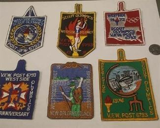 https://www.ebay.com/itm/114200223617	AB0281 VINTAGE LOT OF 6 BOY SCOUTS OF AMERICA PATCHS WEST SIDE SCOUT OLYMPICS		 Buy-it-Now 	 $20.00