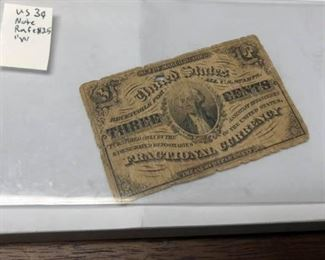 "LRM4002		LRM4002 US Note 3 Cent Fractional Rafe $25 ""W""   Ages Ago Estate Sales Eastbank / NOLA Collectibles Consignment 712 L And A Rd Suite B Metairie LA 70001. We will be there: Thursday - Saturday 10 till 5; Sunday 2pm till 6pm; Monday - Wednesday by Appointment only; excluding holidays. We are inside of the GoMini Office Building.   No holds unless paid.   We may have to dig it out so let us know when you are coming.  We take Cash App, PayPal, Square, and Facebook Messenger Pay. No Delivery.  Note we take consignments.  Thanks, Rafael  Cash App: $Agesagoestatesales   PayPal Email: Agesagoestatesales@Gmail.com Ages Ago Estate Sales  Venmo: @Rafael-Monzon-1 https://www.facebook.com/AgesAgoEstateSales 504-430-0909"