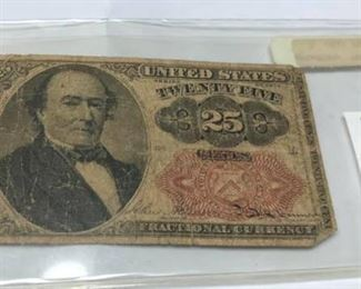"LRM4003		LRM4003 US 25 Cent Fractional Note Rafe $19 ""W""  Ages Ago Estate Sales Eastbank / NOLA Collectibles Consignment 712 L And A Rd Suite B Metairie LA 70001. We will be there: Thursday - Saturday 10 till 5; Sunday 2pm till 6pm; Monday - Wednesday by Appointment only; excluding holidays. We are inside of the GoMini Office Building.   No holds unless paid.   We may have to dig it out so let us know when you are coming.  We take Cash App, PayPal, Square, and Facebook Messenger Pay. No Delivery.  Note we take consignments.  Thanks, Rafael  Cash App: $Agesagoestatesales   PayPal Email: Agesagoestatesales@Gmail.com Ages Ago Estate Sales  Venmo: @Rafael-Monzon-1 https://www.facebook.com/AgesAgoEstateSales 504-430-0909"