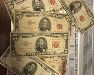 LAR4009 $5 US Red Seal Demand Note $15 ea or 5 at $14.50 each US shipping $8 (50 available)  Ages Ago Estate Sales Eastbank / NOLA Collectibles Consignment 712 L And A Rd Suite B Metairie LA 70001. We will be there: Thursday - Saturday 10 till 5; Sunday 2pm till 6pm; Monday - Wednesday by Appointment only; excluding holidays. We are inside of the GoMini Office Building.   No holds unless paid.   We may have to dig it out so let us know when you are coming.  We take Cash App, PayPal, Square, and Facebook Messenger Pay. No Delivery.  Note we take consignments.  Thanks, Rafael  Cash App: $Agesagoestatesales   PayPal Email: Agesagoestatesales@Gmail.com Ages Ago Estate Sales  Venmo: @Rafael-Monzon-1 https://www.facebook.com/AgesAgoEstateSales 504-430-0909