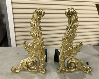 https://www.ebay.com/itm/114545016832	KG8056 Brass Fireplace Ornamental Andirons Pickup Only		Auction