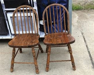 https://www.ebay.com/itm/114545312294	LAR9015 Pair of Butcher Block Style Country Chairs Local Pickup		Auction