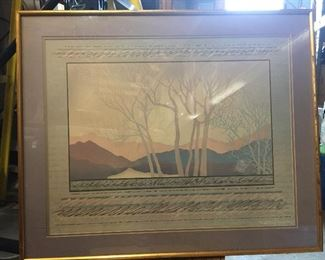 https://www.ebay.com/itm/124432185907	LAR0022 Cooper Smith: Pink and Blue Trees and mountains with Purple Surrounding		 OBO 	 $20.00