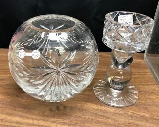 https://www.ebay.com/itm/114412274685	LRM3985 - Clear Cut Glass Pieces - Block Candle Stick Plus Pickup Only		 OBO 	 $20.00