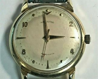 https://www.ebay.com/itm/124444216323	HY002 HAMILTON AUTOMATIC WATCH UNTESTED, 14K GOLD CASE, NEEDS SERVICING		 Buy-IT-Now 	 $599.99