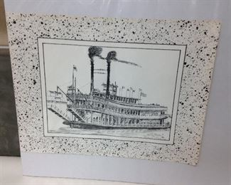 https://www.ebay.com/itm/124437142240	LY0014 New Orleans Riverboat Natches 1980 George B Luttrell Print		 Buy-It-Now 	 $20.00