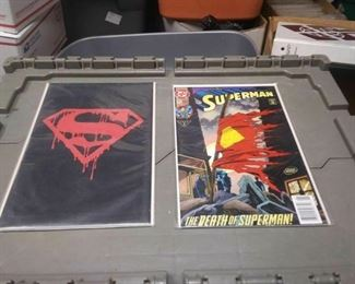 https://www.ebay.com/itm/124175677067	RX5012001 DC COMICS BOOK LOT OF 49 BOOKS DEATH OF SUPER SUPERMAN FUNERAL FOR A F		 Buy-it-Now 	 $275.00