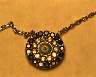 https://www.ebay.com/itm/124320686793	WL104 STERLING SILVER AND BLUE EVIL EYE NECKLACE		 Buy-it-Now 	 $20.00