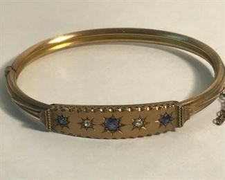 https://www.ebay.com/itm/124334439259	WL122 GOLD BRACELET STAMPED 901 WITH DIAMONDS AND SAPPHIRES 		 Buy-it-Now 	 $500.00
