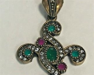 https://www.ebay.com/itm/124401676456	WL184 STERLING SILVER PENDANT WITH PINK, GREEN AND CLEAR GEMS 		 Buy-it-Now 	 $20.00