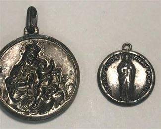 https://www.ebay.com/itm/114477673370	WL198 LOT OF 2 RELIGIOUS PENDANTS STAMPED 800 AND STERLING 		 Buy-it-Now 	 $20.00