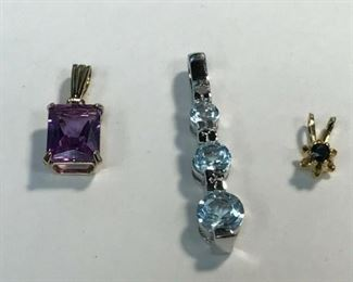 https://www.ebay.com/itm/114477619345	WL205 LOT OF 3 PENDANTS WITH 3 REAL GEMS		 Buy-it-Now 	 $40.00