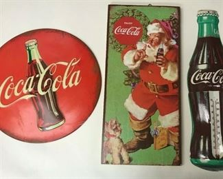 https://www.ebay.com/itm/114524879910	WL213 COCA-COLA METAL AND WOOD SIGNS LOT OF 3		 Buy-it-Now 	 $40.00