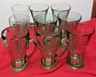 https://www.ebay.com/itm/114374219105	WL3099 LOT OF NINE GREEN TINT COLLECTORS COCA-COLA DRINKING GLASSES		 Buy-it-Now 	 $22.00