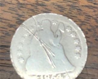 LAR9019 Seated Liberty Dime 1854 $15  Ages Ago Estate Sales Eastbank / NOLA Collectibles Consignment 712 L And A Rd Suite B Metairie LA 70001. We will be there: Thursday - Saturday 10 till 5; Sunday 2pm till 6pm; Monday - Wednesday by Appointment only; excluding holidays. We are inside of the GoMini Office Building.   No holds unless paid.   We may have to dig it out so let us know when you are coming.  We take Cash App, PayPal, Square, and Venmo. No Delivery.  Note we take consignments.  Thanks, Rafael  Cash App: $Agesagoestatesales   PayPal Email: Agesagoestatesales@Gmail.com Ages Ago Estate Sales  Venmo: @Rafael-Monzon-1 https://www.facebook.com/AgesAgoEstateSales 504-430-0909