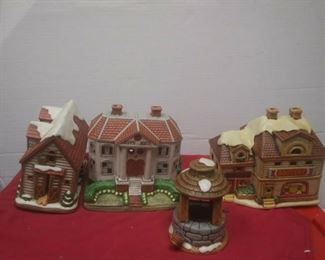https://www.ebay.com/itm/114575415365	GN3144 LOT OF FOUR LEFTON USED VINTAGE CERAMIC COLONIAL VILLAGE BUILDINGS		 Buy-it-Now 	 $54.99