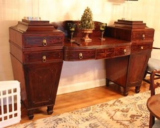 Antique inlaid Scottish sideboard