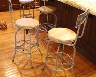 4 Ballard swivel bar stools