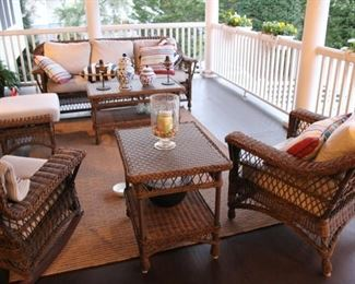 Indoor /outdoor wicker seating