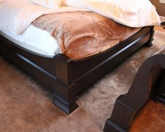 JP Rogers king size sleigh bed (has traditional sleigh bed footboard & also comes with custom made lower footboard)