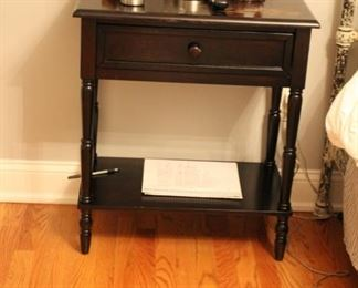 Pair distressed painted night stands