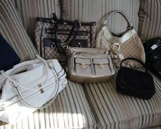 Designer purses: Gucci, Chanel