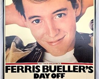 "$100. Vintage, framed foam board ""Ferris Beuller's Day Off"" movie poster. Measures 41x27."