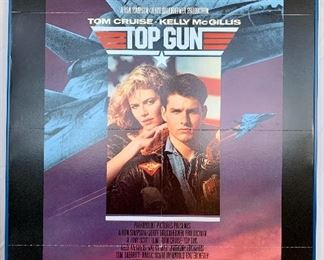 "$100. Vintage, framed foam board ""Top Gun"" movie poster. Measures 41x27."