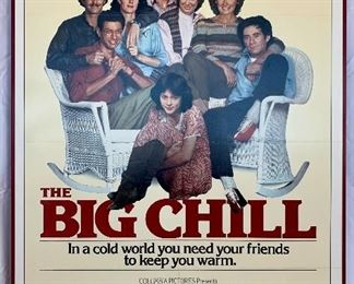 "$100. Vintage, framed foam board ""The Big Chill"" movie poster. Measures 41x27."
