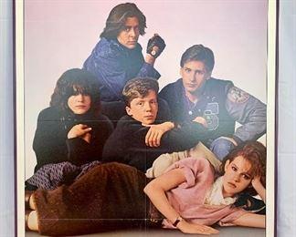 "$100. Vintage, framed foam board ""The Breakfast Club"" movie poster. Measures 41x27."