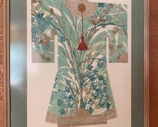 $450. Original, Vintage textile art circa 1988. 28L x 35H. Artist signature E. Bales.