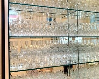 $6/each. Collection of 138 various pieces of  crystal stemware, glassware and barware.  Excellent condition. Mix n Match $6/each.