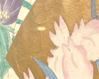 Close up view of the artwork.