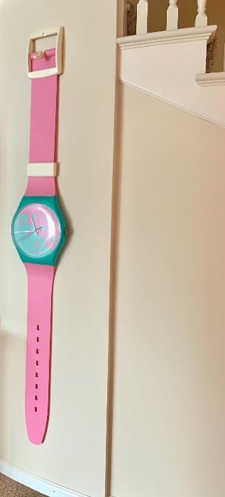 $80. Wall size SWATCH WATCH! Who remembers these?! :)