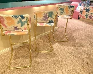 Alternate view of the bar height stools
