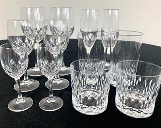 $6/each. Mix and match! Crystal barware and stemware. There are over a hundred pieces! No hallmark visible. All in excellent condition.