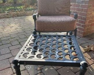 LOT 6603 Hanamint wrought iron chaise lounge (terra cotta cushions included) (matches lot 6601, 6604 and 6605) $275
