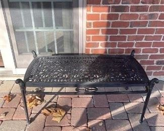 LOT 6604 Hanamint wrought iron coffee table (matches Lot 6601, 6603 and 6605) $125