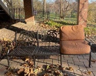LOT 6605 Hanamint wrought iron couch (with terra cotta cushions) (matches lot 6601, 6603 and 6604) $495