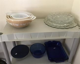 Vintage Nesting Bowl Set and Cobalt Blue Bakeware