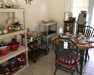 Cute Dining Set, Vintage Tea Cart, Red Kitchen Gadgets and Cookware by kitchenaid