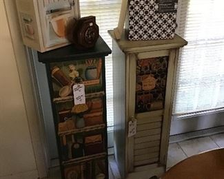 Cute hand-painted wooden Accent Cabinets
