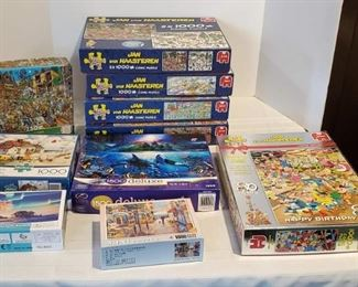 More 1,000 Pc. Jigsaw Puzzle Boxes, Jan Van Haasteren and More