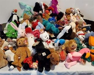 Vintage Ty Beanie Babies, Some Still Tagged, About 72 Count