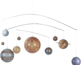 Authentic Models, Solar System, Baby Crib Mobile - Multicolored Diagram