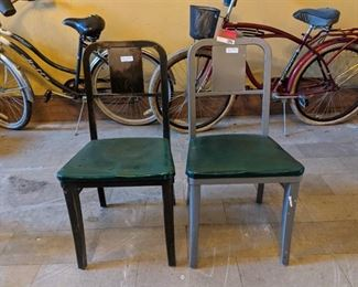 (2) Green Chairs