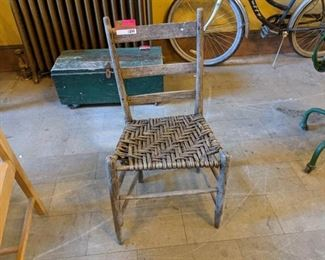 Antique Woven Wood Chair