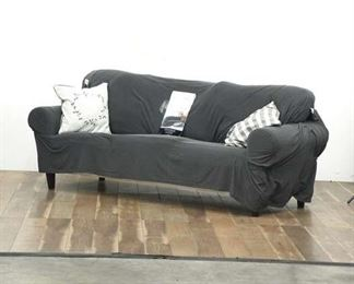 Ektorp White 3-Cushion Sofa With Mainstays Slip Cover
